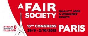 A fair society - Etuc Congress Paris 2015