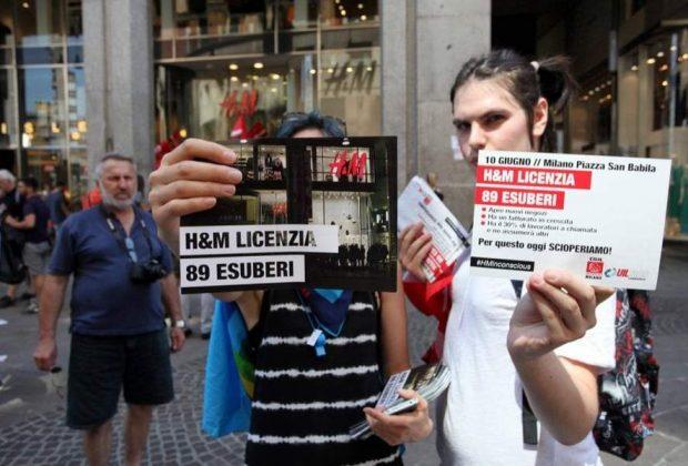 H&M, massiccia adesione allo sciopero #FashionRebel