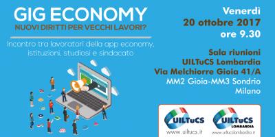 Gig economy, a Milano la UILTuCS incontra i lavoratori delle app