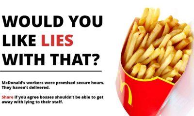 McDonalds, primo sciopero storico in Gran Bretagna