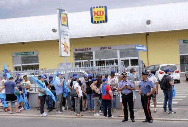 Md e Maury's, sit-in Uiltucs: l'azienda chiama la polizia