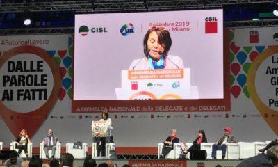Daniela, parole di orgoglio e speranza: l'intervento all'assemblea Cigl Cisl Uil